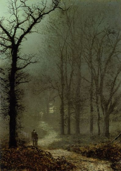 Grimshaw, John Atkinson: Lovers in the Wood. Fine Art Print/Poster